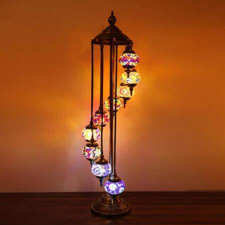 Floor Lamp 9 Large Globes