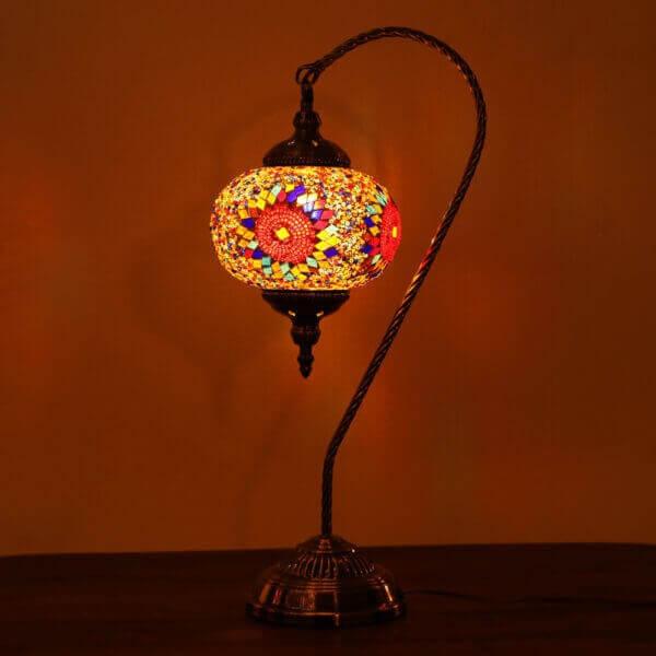 Turkish Mosaic Large Globe Table Lamp