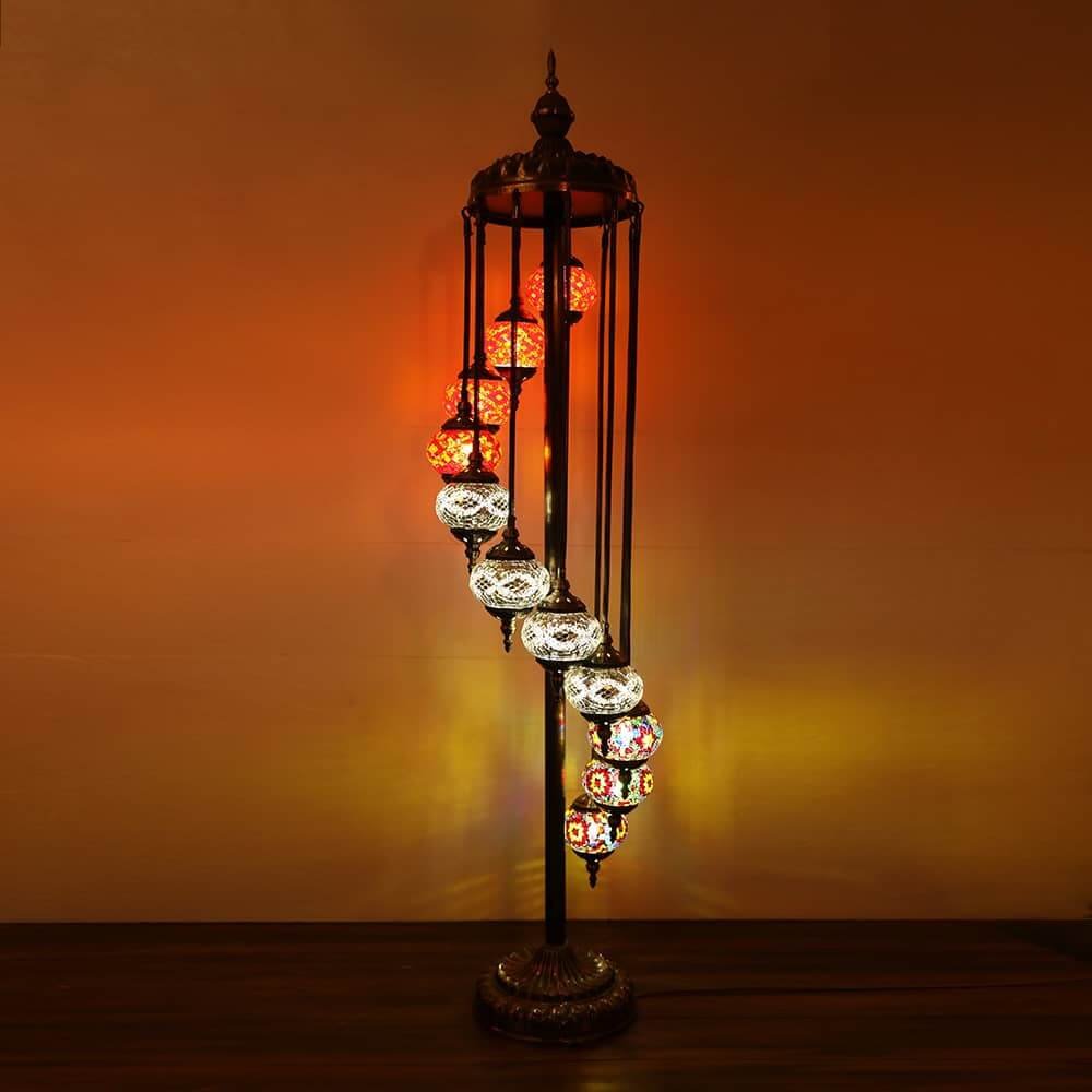 Floor Lamp 11 Large Globes Turkish