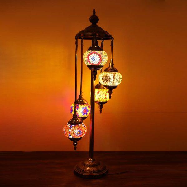 Turkish Floor Lamp 5 Large Globes Turkish