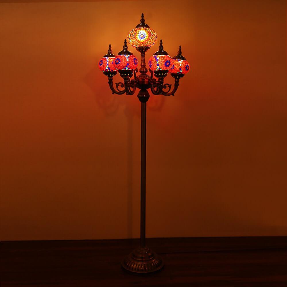 Royal Mosaic Glaxy Globes Floor Lamp