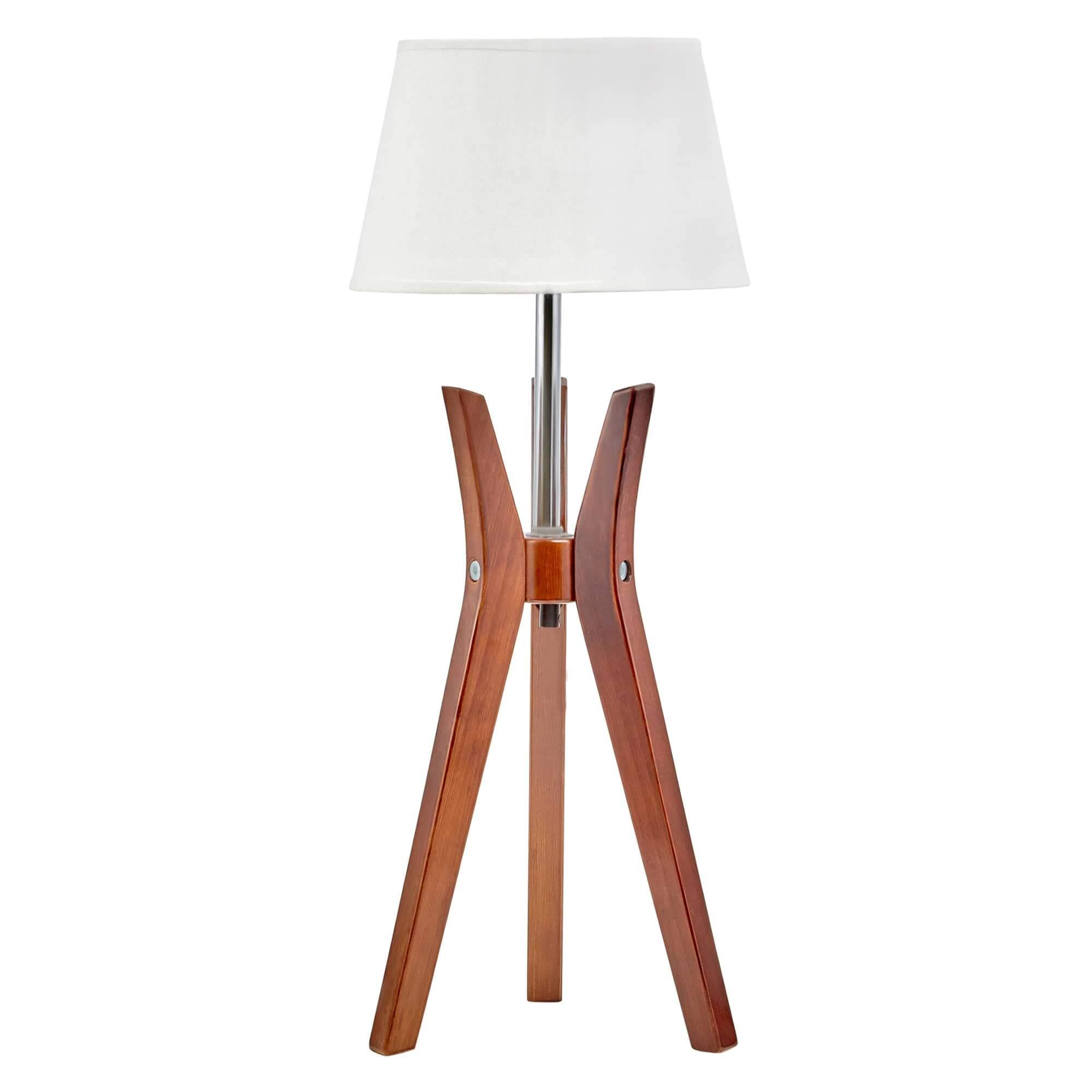 Cherry Tripod Table Lamp