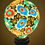 Artistic Printed Decorative LED Bulbs The beautiful and high definition floral de